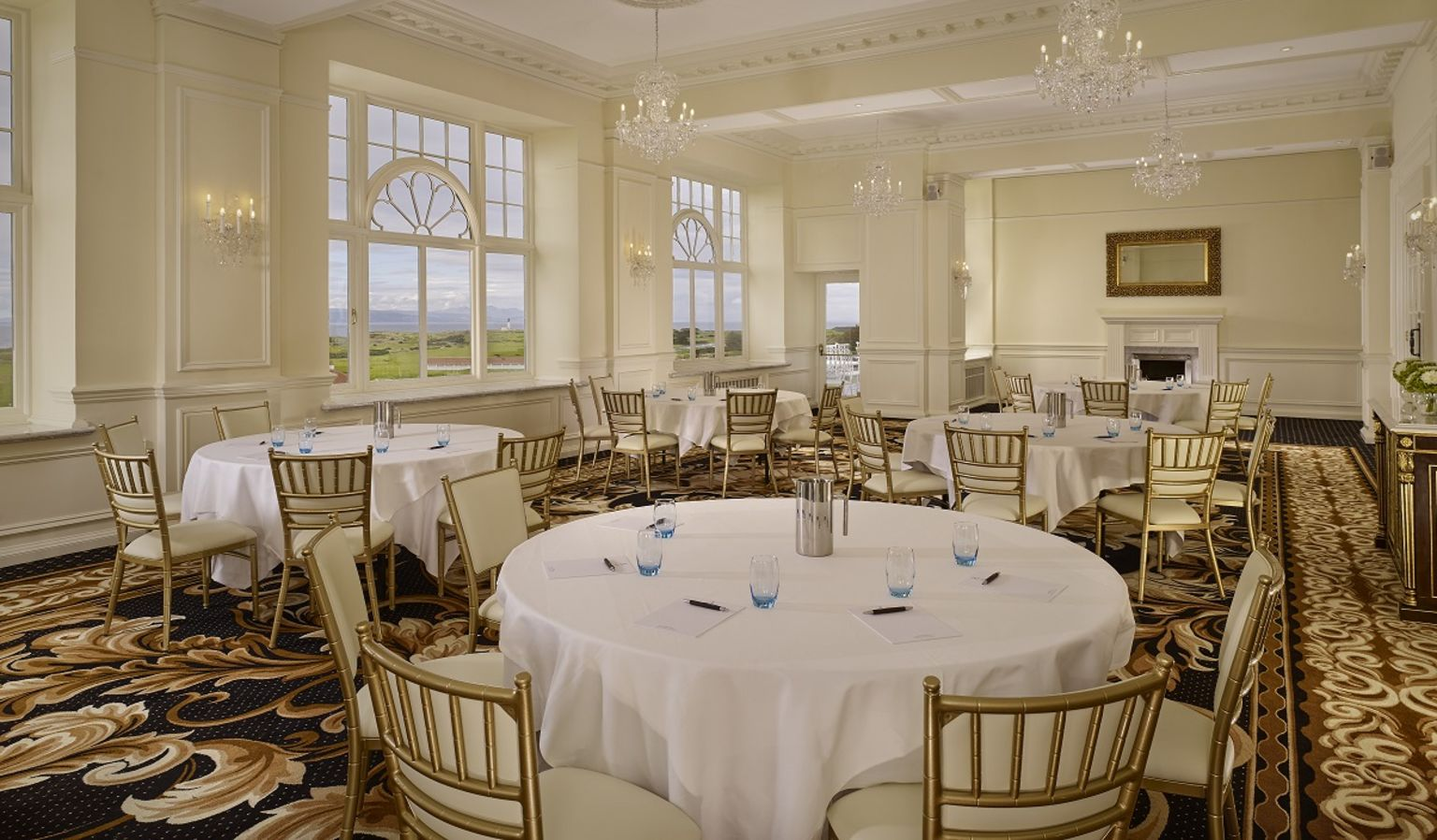 Ailsa Craig Event Room with Circle Tables and Chairs