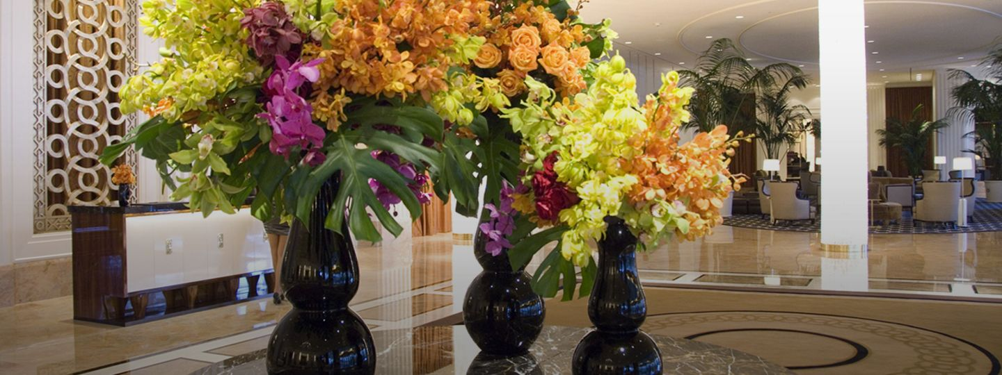 Floral Decor within Hotel Lobby