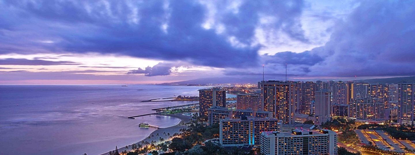 Trump Waikiki view from hotel
