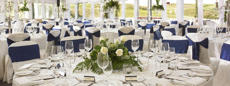 Trump Doonbeg wedding table set up