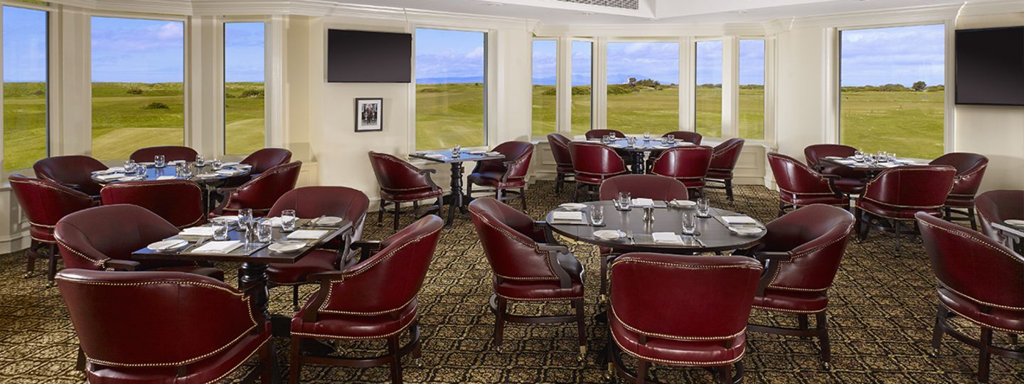 Duel in the Sun Dining Area Overlooking the Golf Course