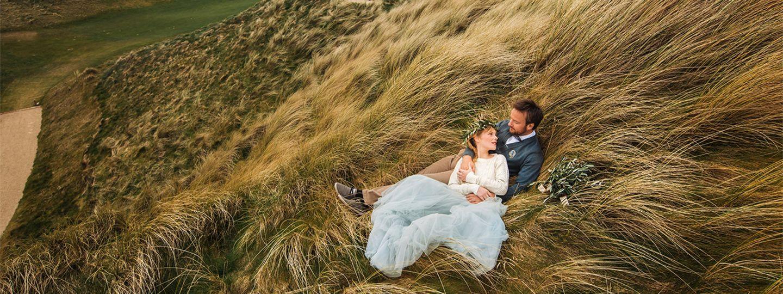 Wedding Couple on a Dune