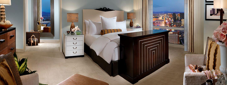 Las Vegas Suite Bedroom View of the Strip