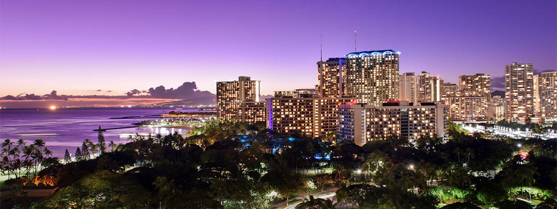 View of Waikiki at Night