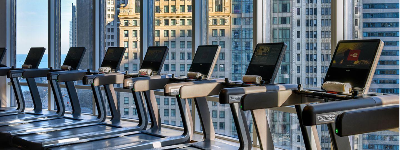 Treadmills Overlooking Chicago