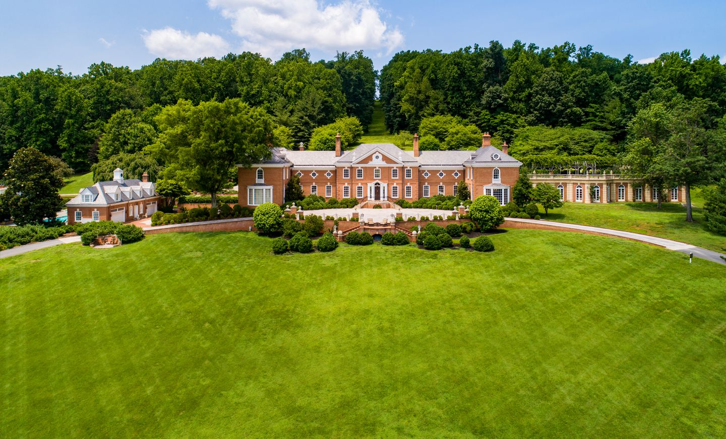 Drone Shot of Trump Winery Exterior and Grounds