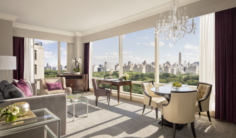 Central Park Living Room with View