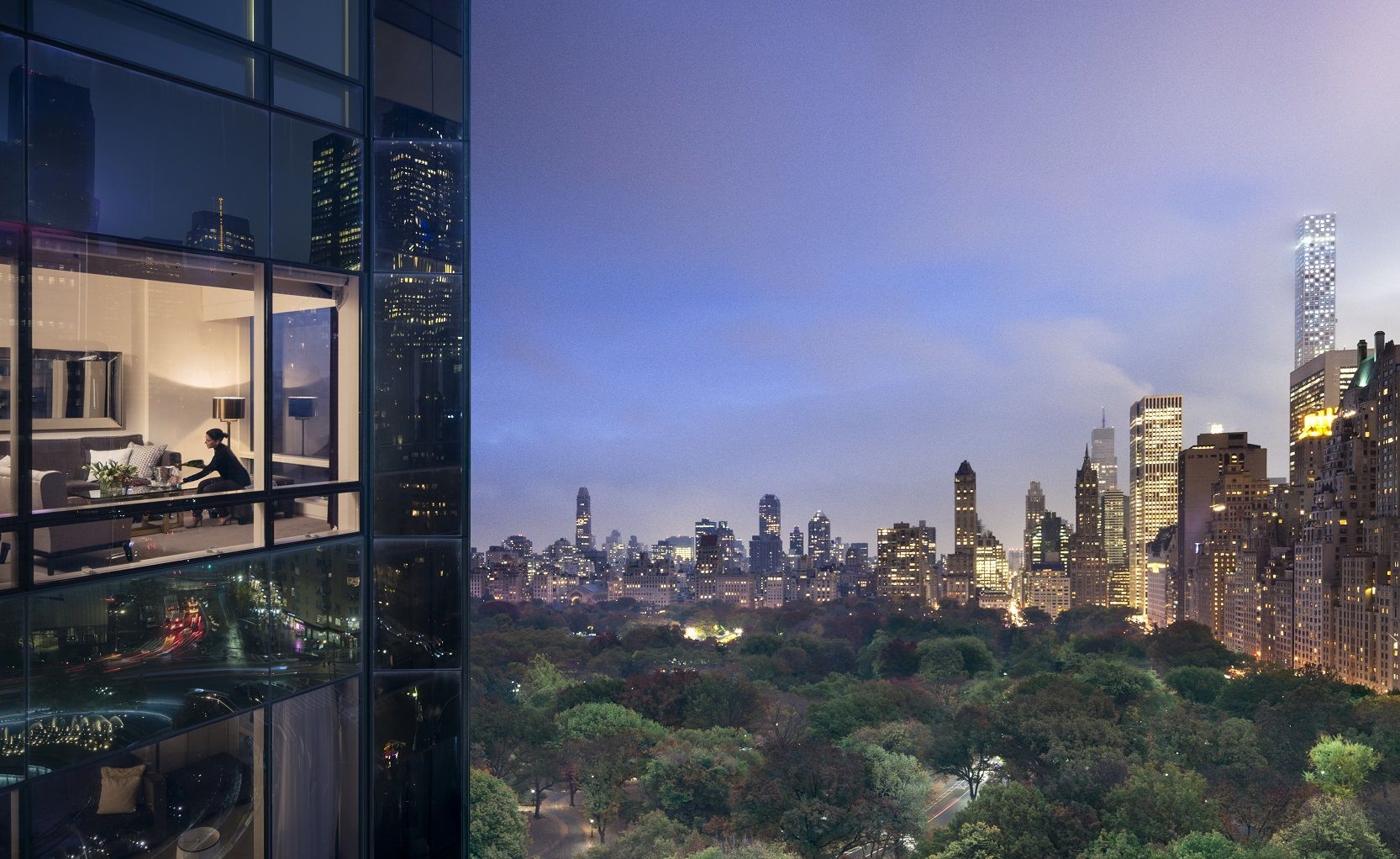 Trump New York overlooking Central Park