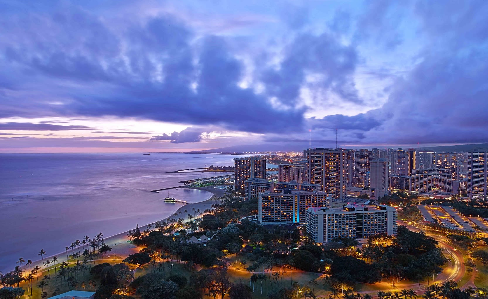 Trump Waikiki ocean view from hotel