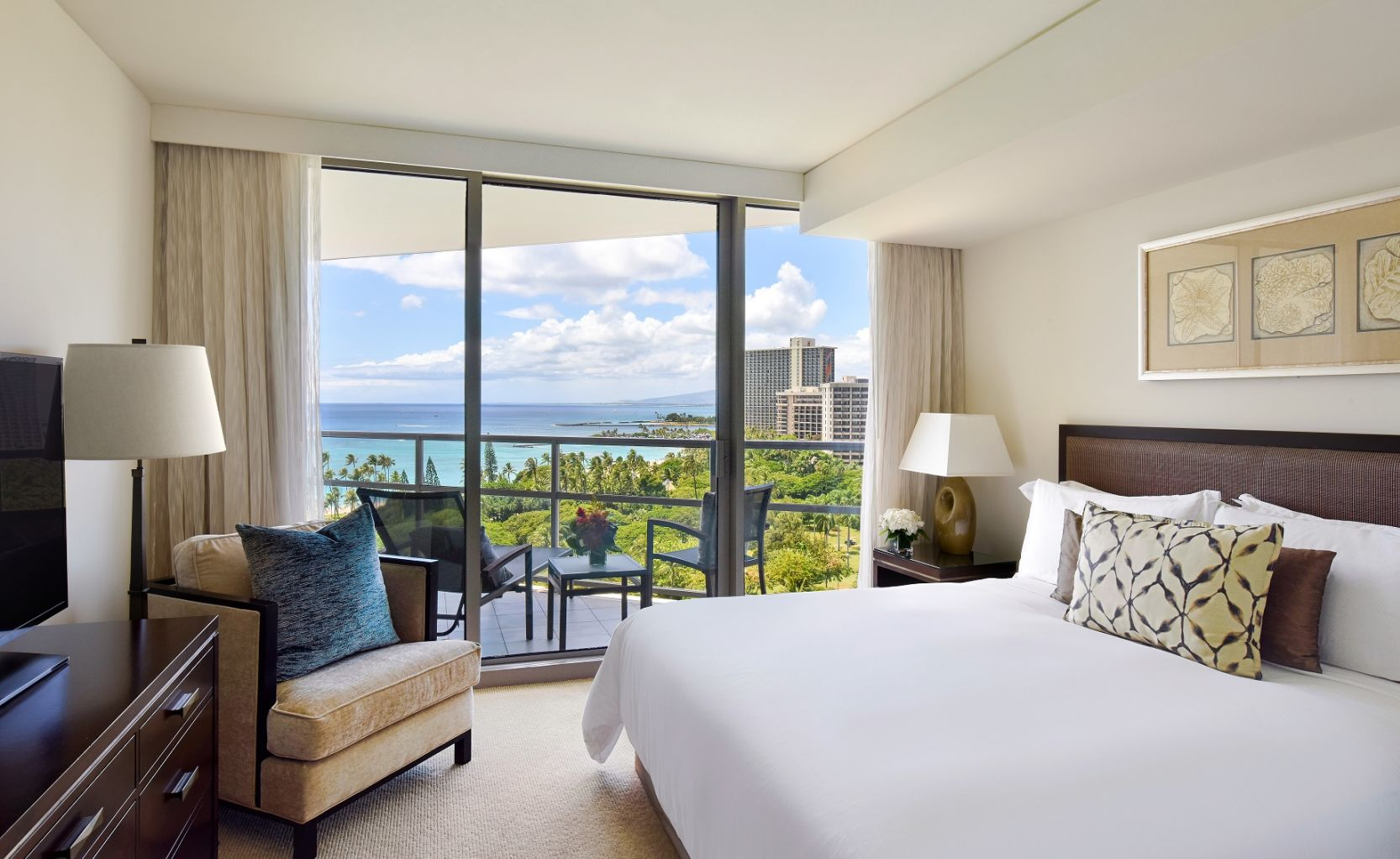 Bedroom with Balcony at Waikiki