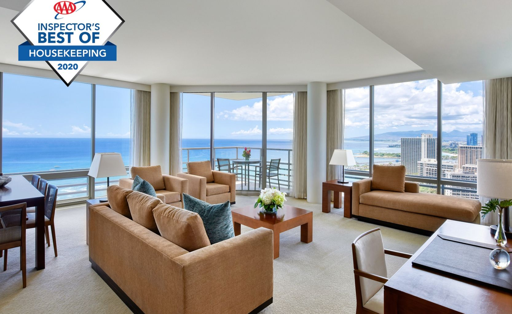 Suite Living Area Overlooking the Ocean with AAA Award