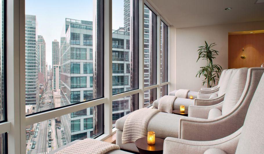 Spa Lounge Chairs Facing Window