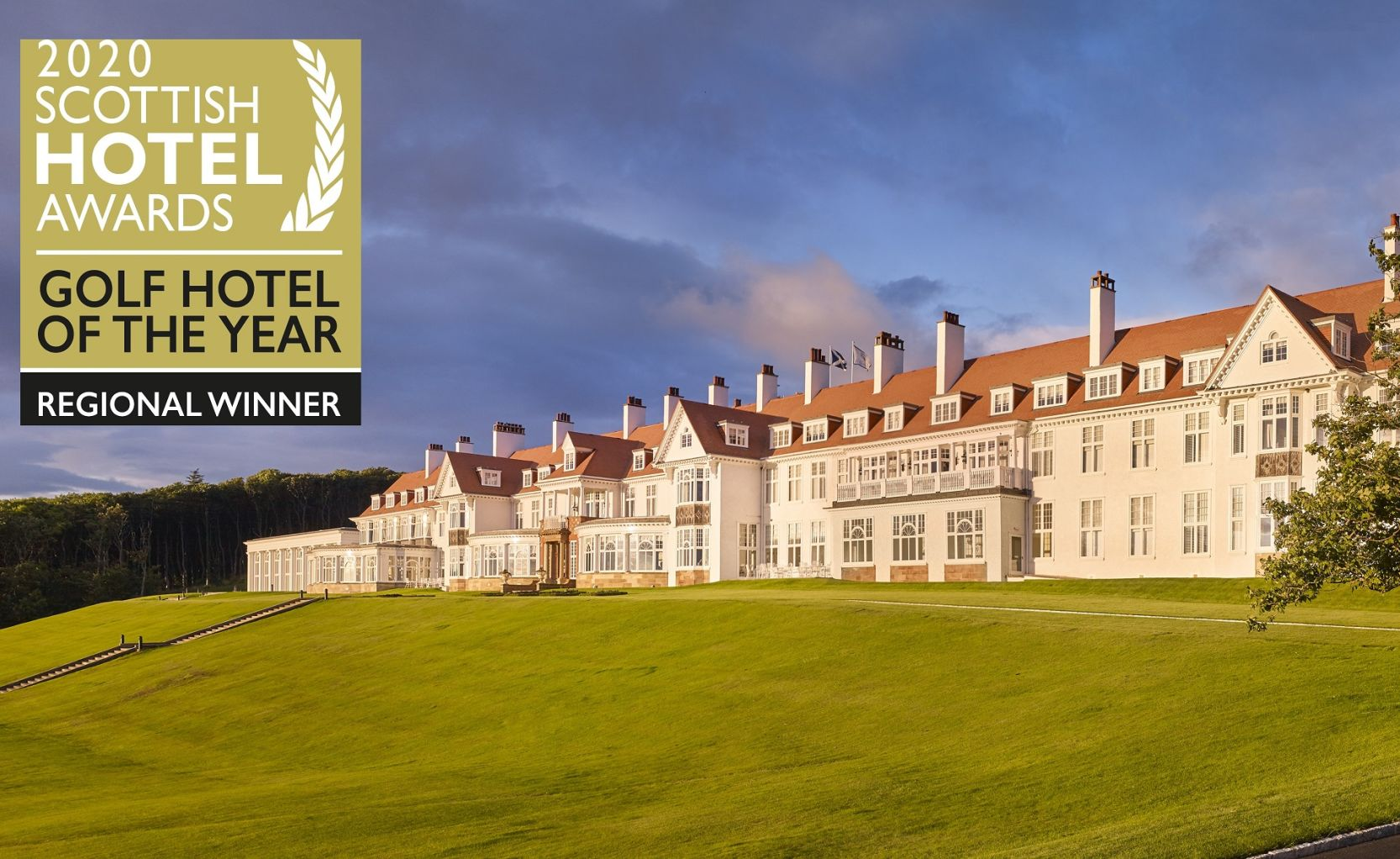 Front Shot of Turnberry with 2020 Scottish Hotel Awards
