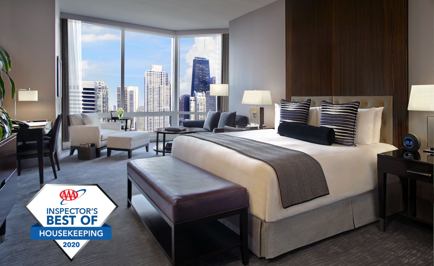 Chicago Suite Overlooking the City with AAA Award