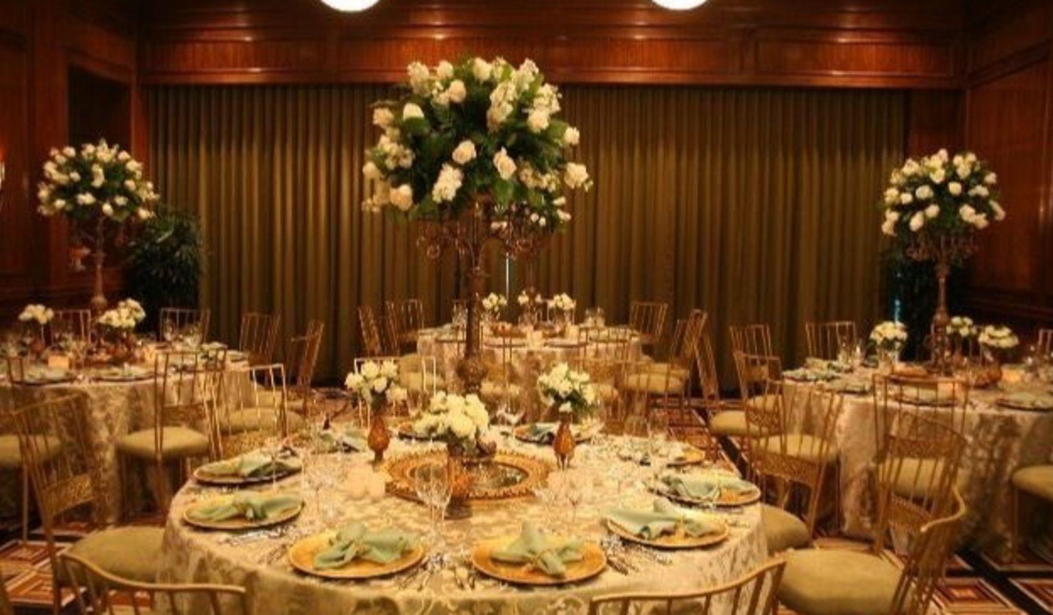 Table and Chairs Ballroom Setup