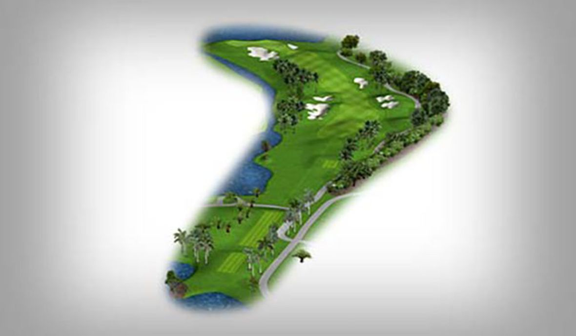 golf course long fairway map