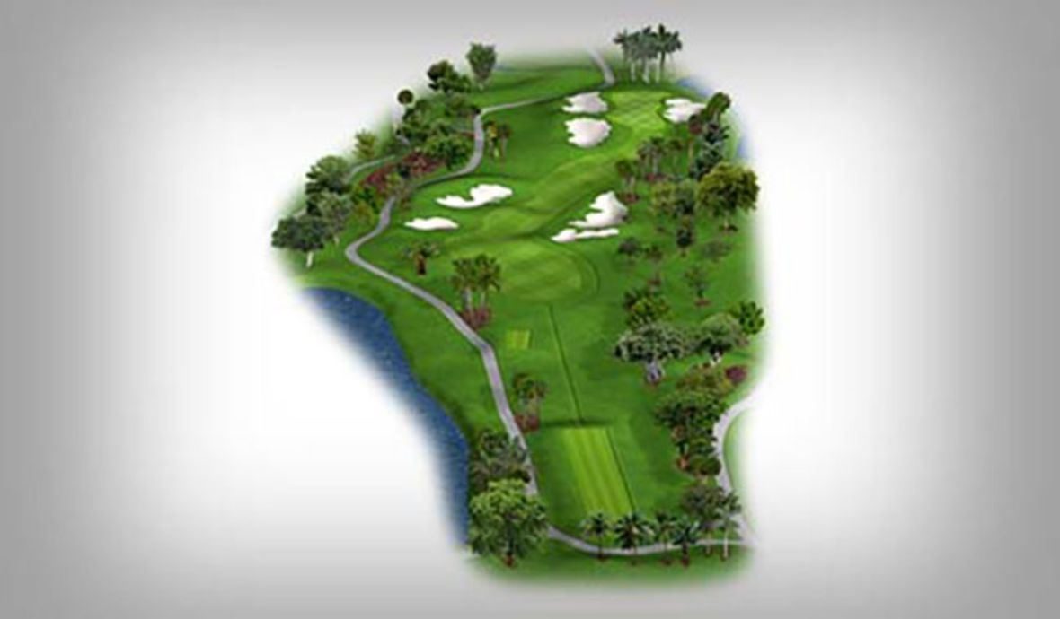 golf course map with sand traps