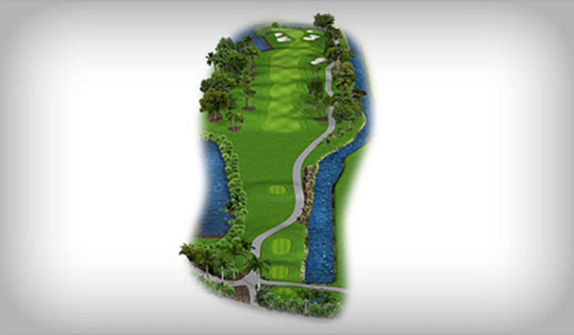 map of golf fairway