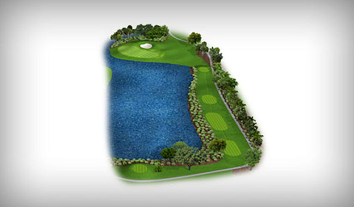 digital map of fairway
