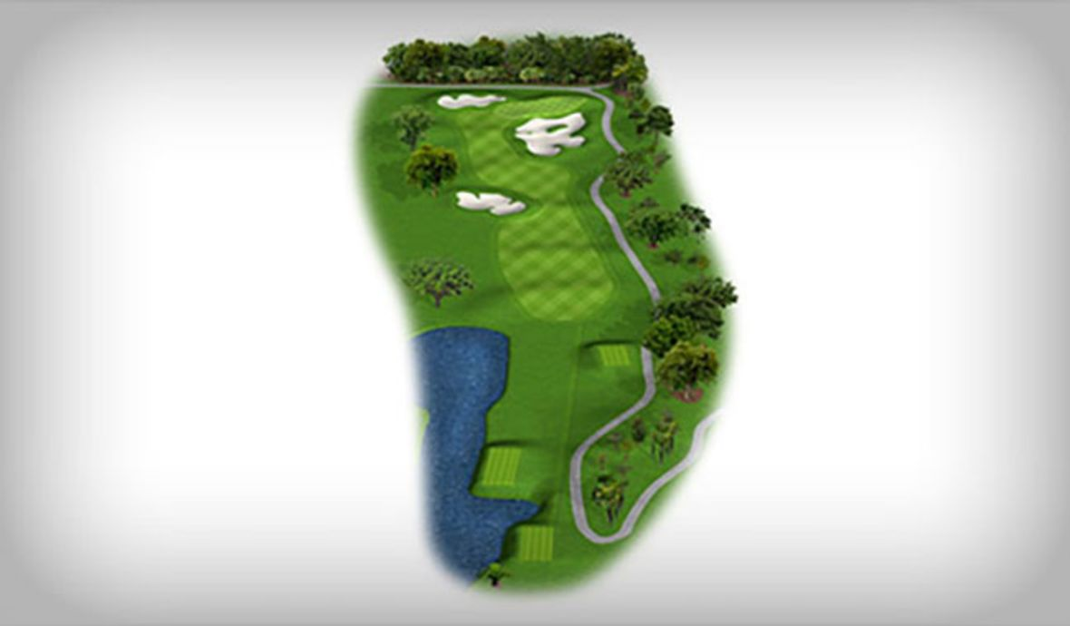 digital golf course fairway