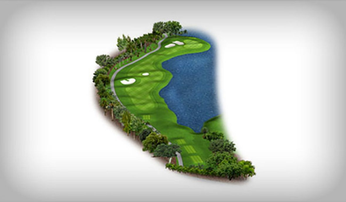 golf course fairway map