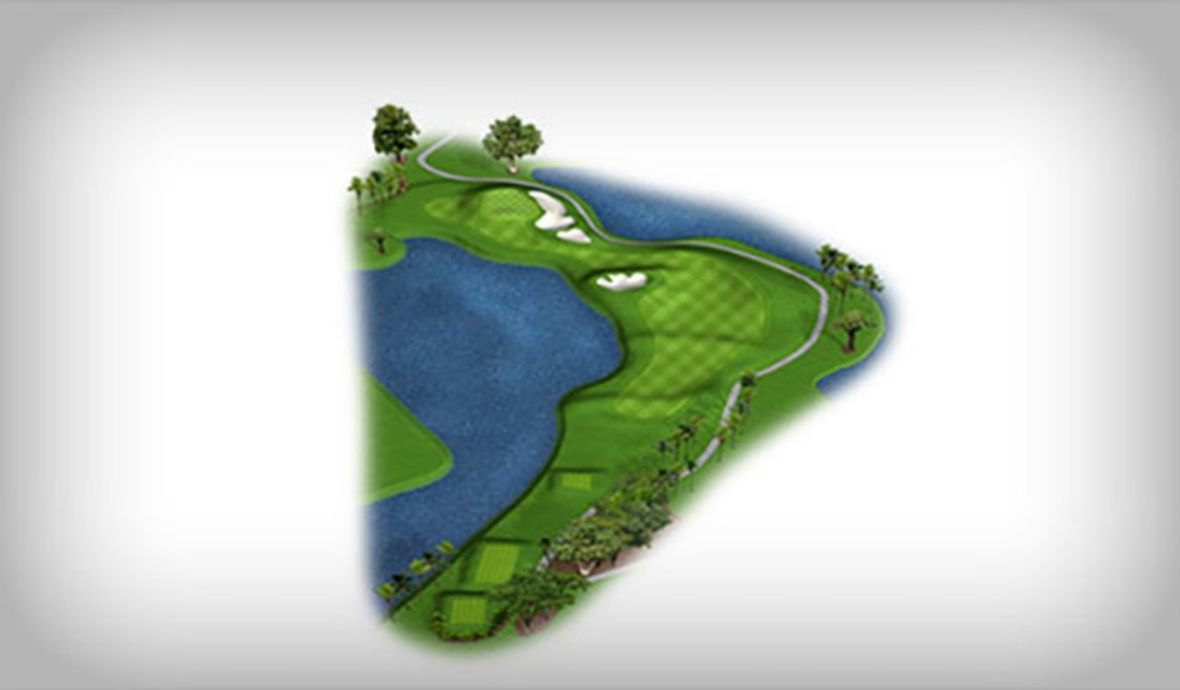 golf course hole map