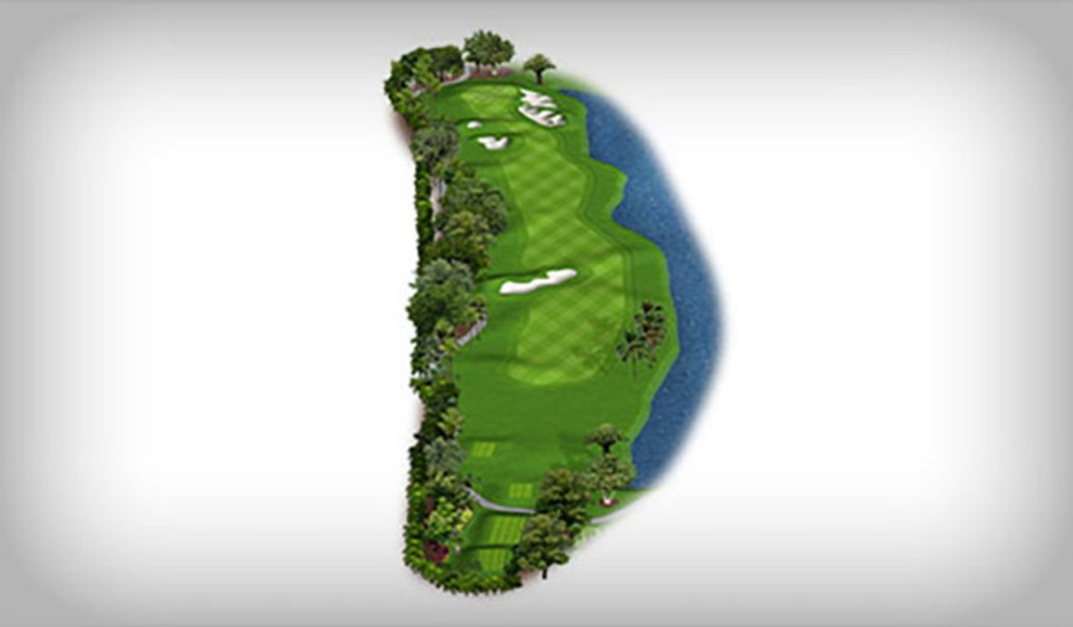 golf course map with water