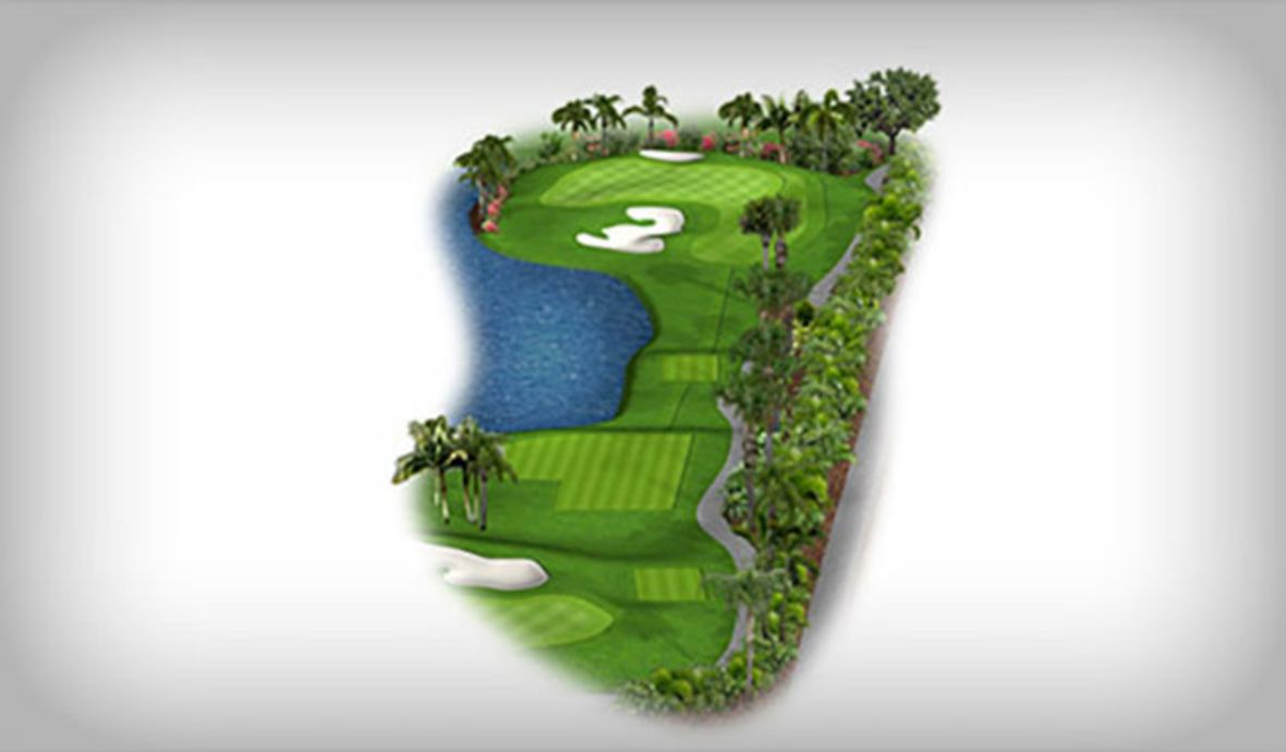 digital golf course map