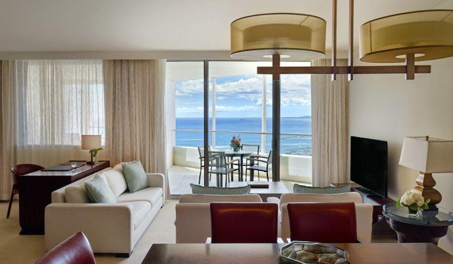 Trump Waikiki Suite Living Area Overlooking the Ocean