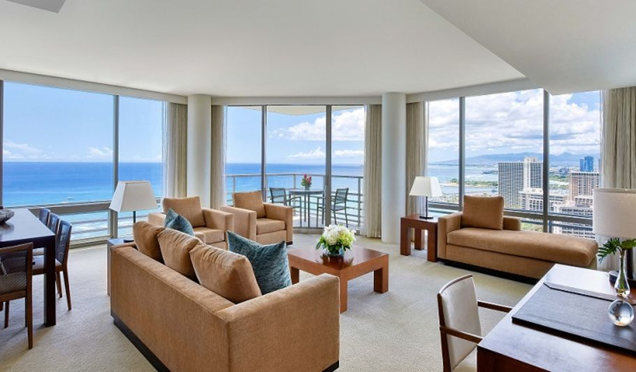 Waikiki Ocean Front Suite Living Space