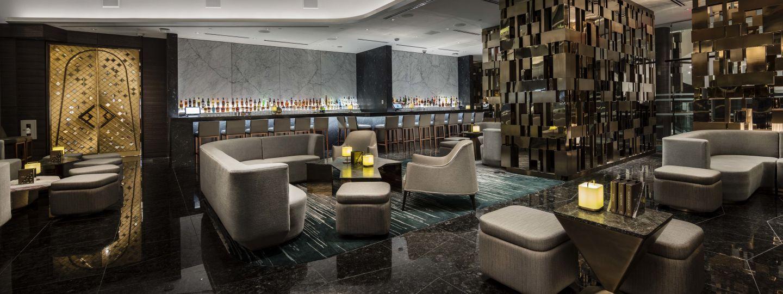 hotel interior champagne lounge