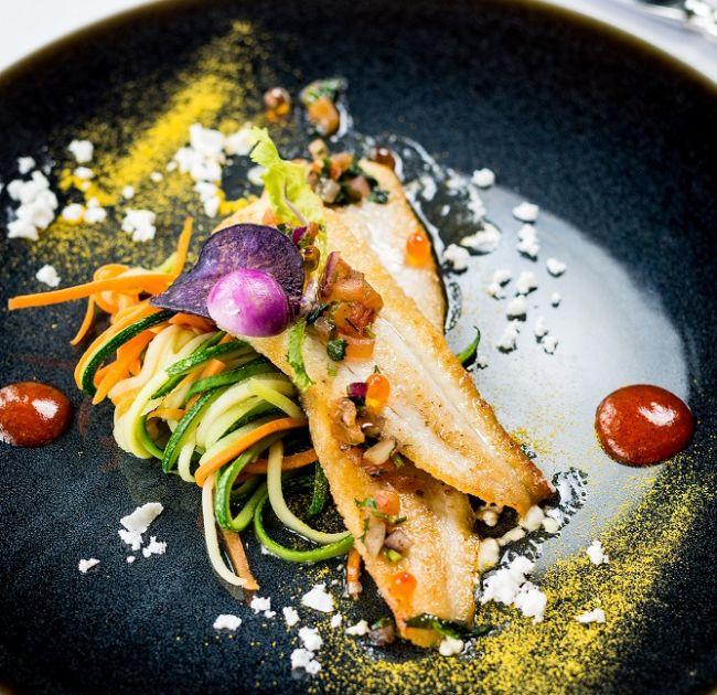 Dinner entre including fish