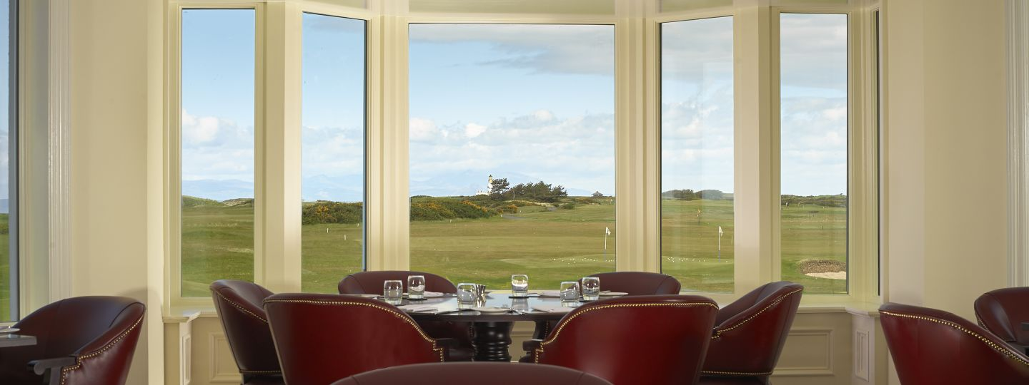 Dining Table with View of Golf Course