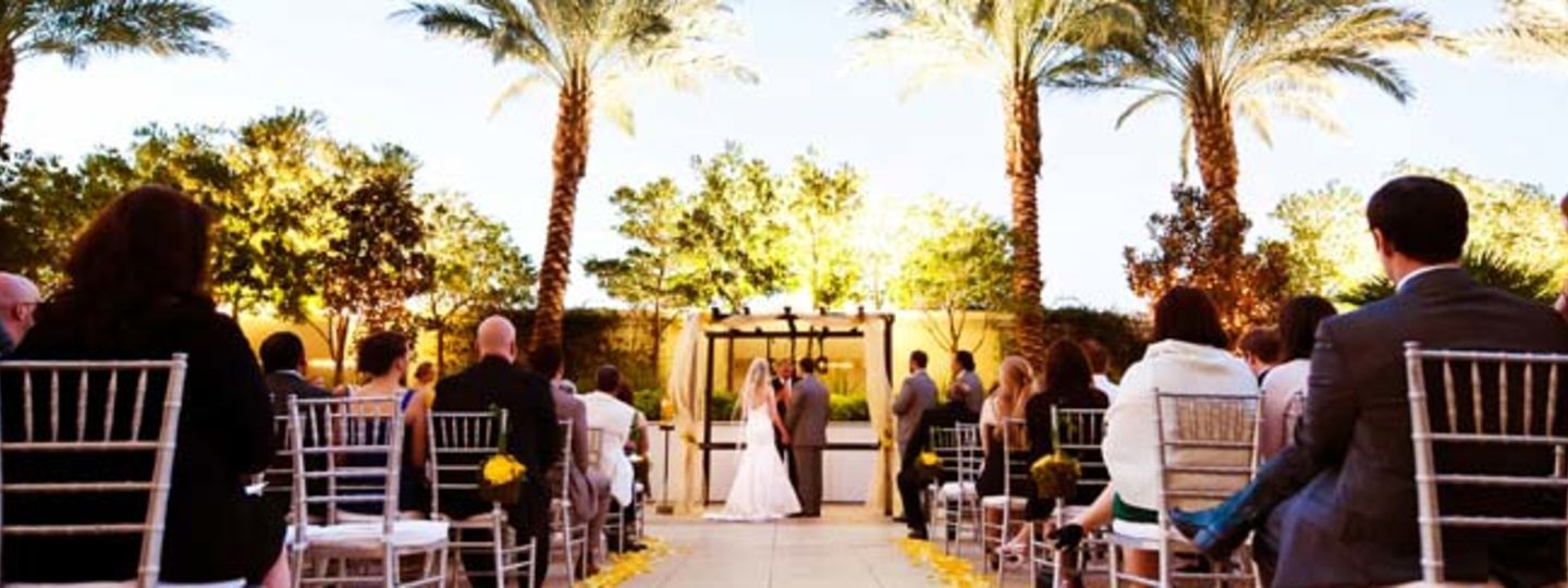 Bridal shower venues las vegas trump las vegas wedding venues outdoor wedding ceremony near palm trees junglespirit Images