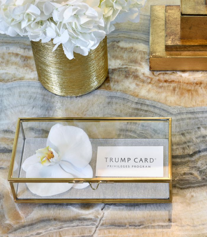 Privileges Program Card and White Floral Decor