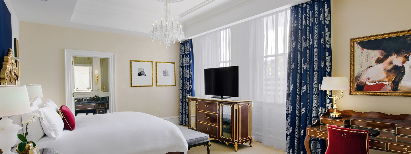 King Guest Room With TV