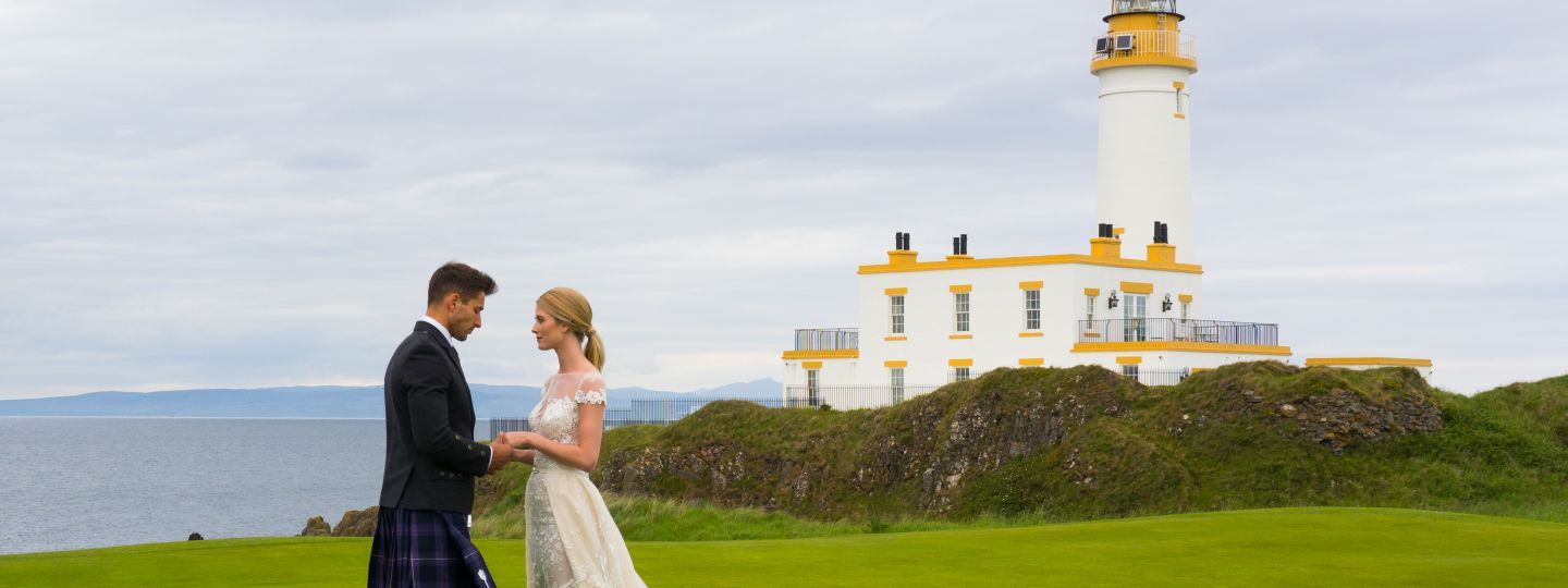 Bride & Groom with Lighthouse