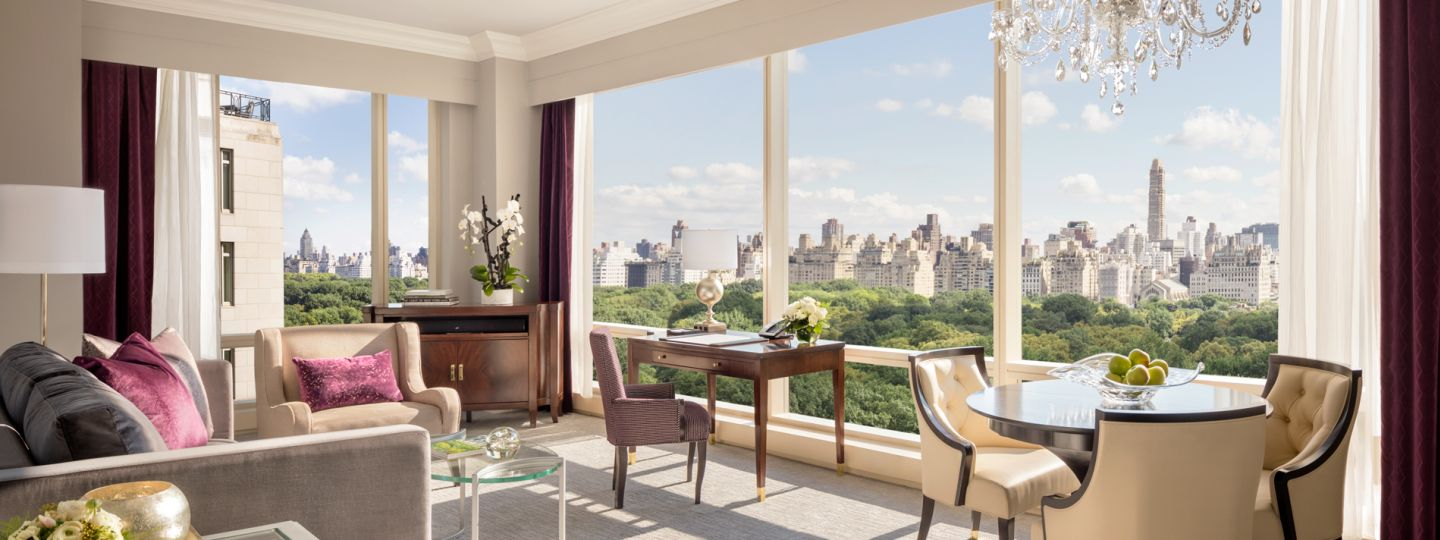 central park suite with large windows