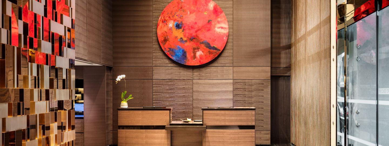 hotel interior modern designed lobby