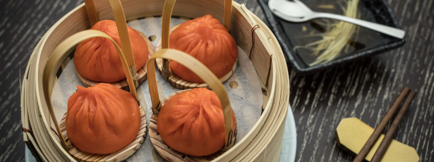 basket of orange dumplings