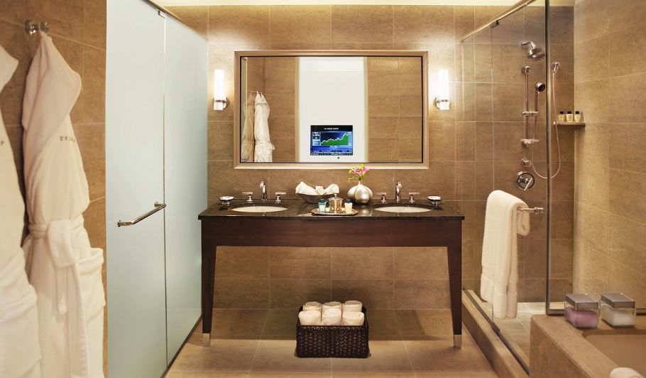 Trump Chicago Suite Bathroom with Two Sinks