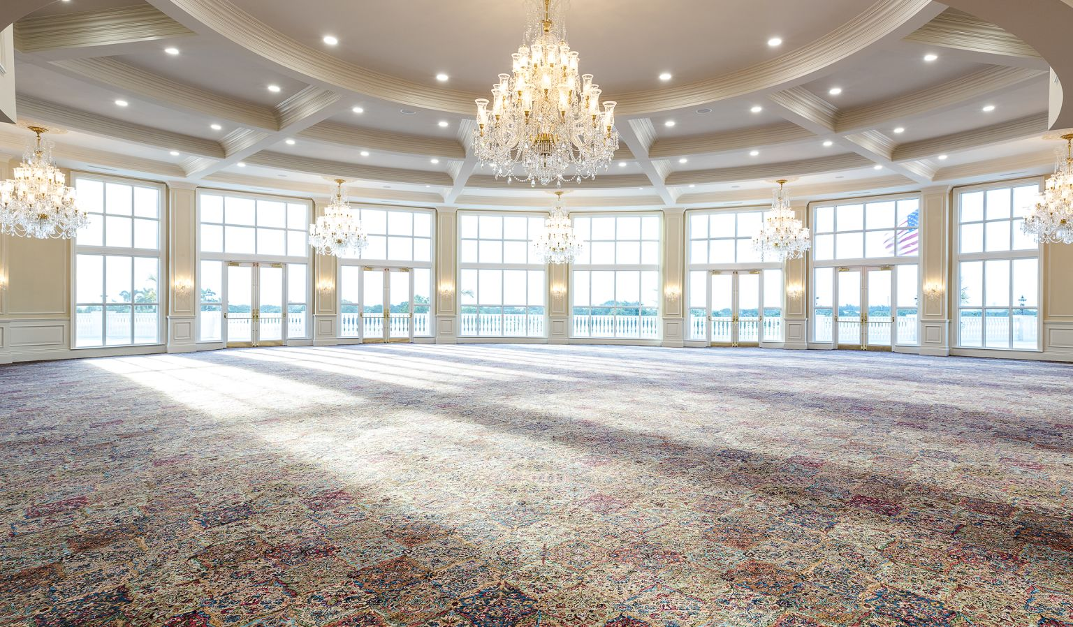 event space with large windows
