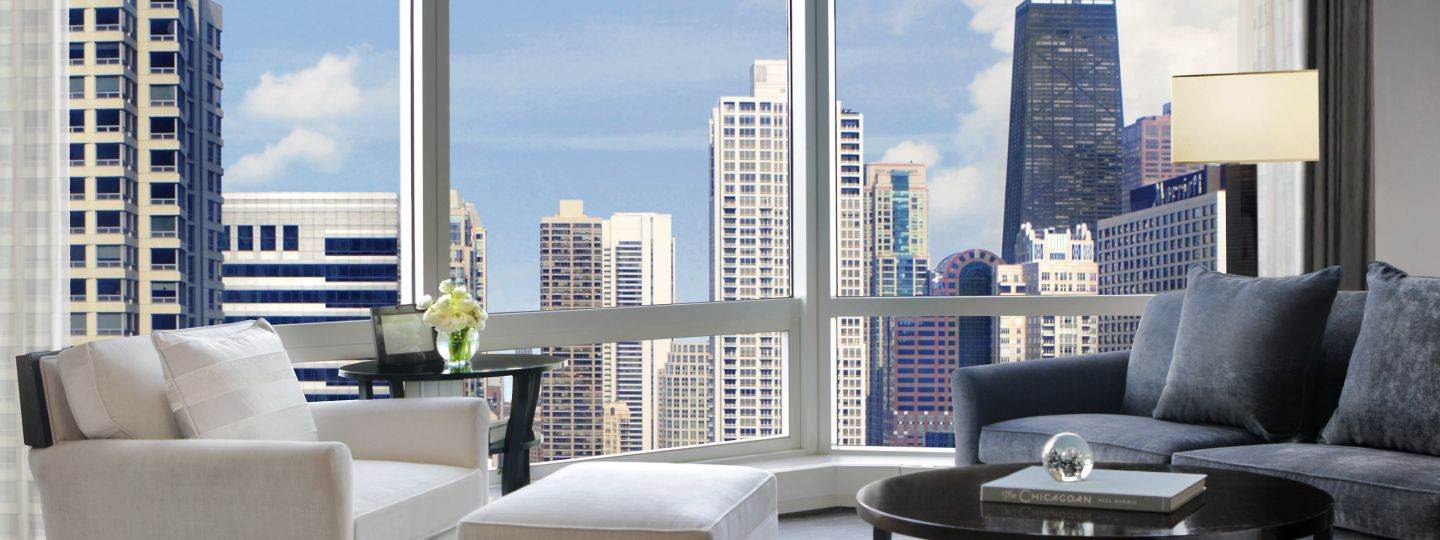 Hotel Suite with Views of Chicago