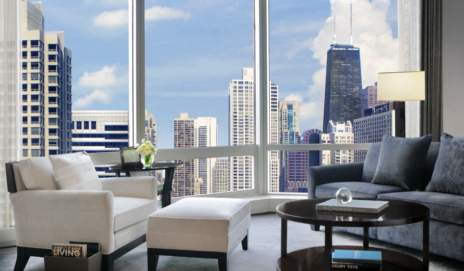 Guest Room with View of Chicago