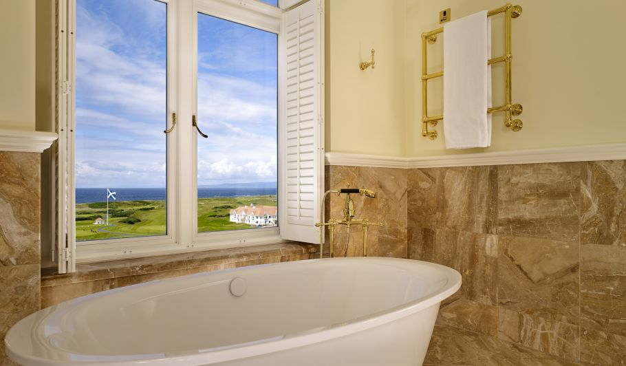 Hotel Bathtub with Golf Course View