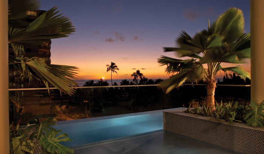 Outdoor Pool with Palm Trees