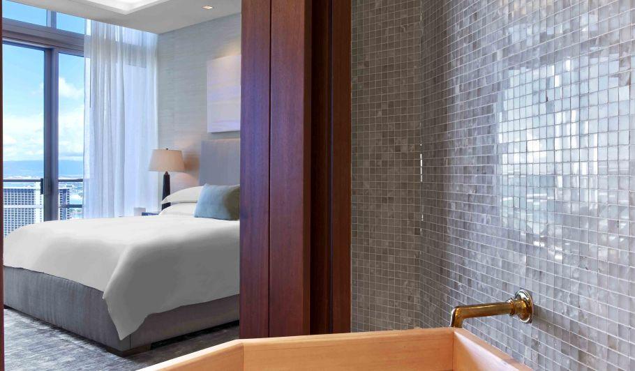 Hotel Bathroom Adjacent to Room