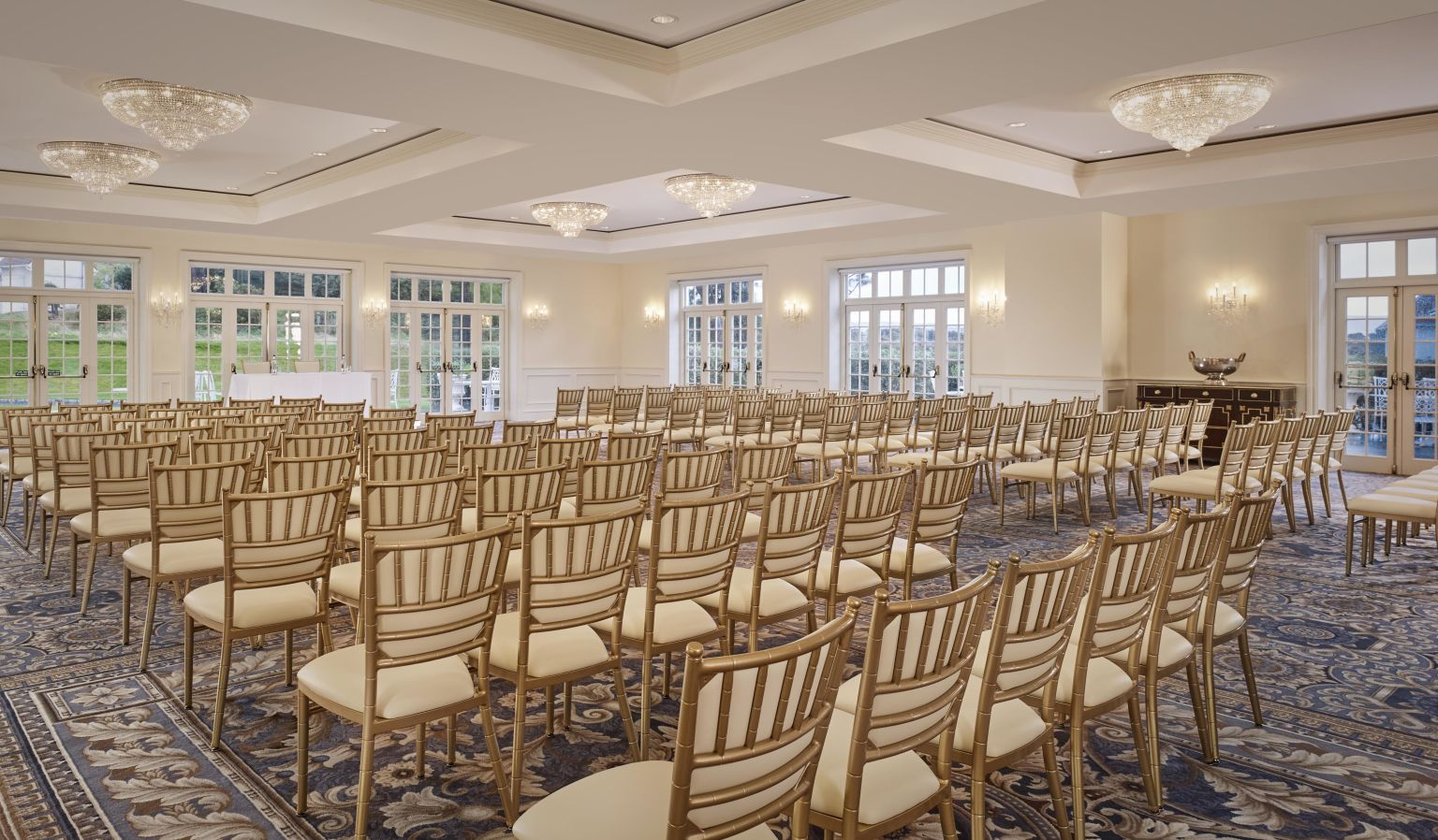 Event Venue with Rows of Chairs