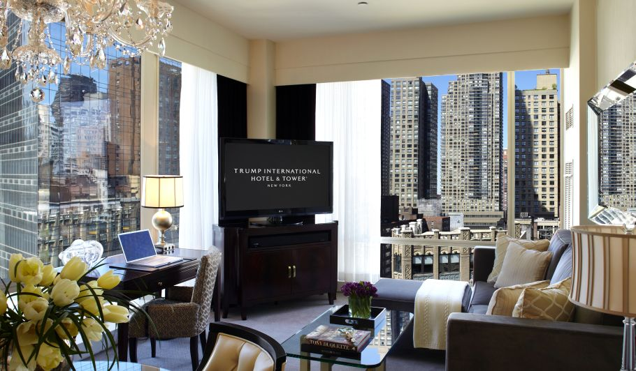 Trump Suite Living Area With NYC View
