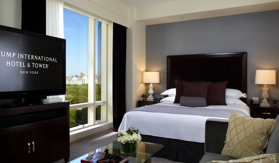 Hotel Room With TV & Central Park View